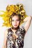 Beautiful autumn women. Royalty Free Stock Images