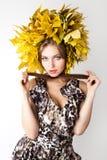 Beautiful autumn women. Stock Photography