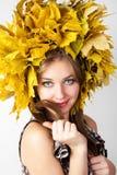 Beautiful autumn women. Royalty Free Stock Photography