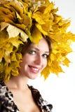 Beautiful autumn women. Royalty Free Stock Photo