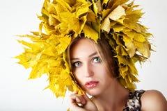 Beautiful autumn women. Stock Photo