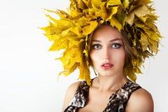 Beautiful autumn women. Royalty Free Stock Image