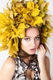 Beautiful autumn women. Stock Images