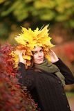 Beautiful autumn women portrait Stock Photography