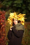 Beautiful autumn women portrait Stock Images