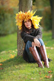 Beautiful autumn women portrait Stock Photo