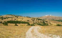 Beautiful autumnal landscape on Ai-Petri mountain tableland. In Crimea, Ukraine stock images