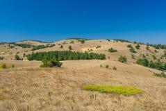 Beautiful autumnal landscape on Ai-Petri mountain tableland. In Crimean peninsula Stock Image
