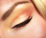 Beautiful autumnal makeup Stock Images