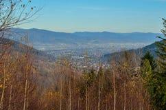 Beautiful autumnal mountain landscape. stock images