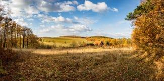 Beautiful autumnal rural landscape Stock Photos