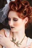 Beautiful Avant-garde Bride Royalty Free Stock Images