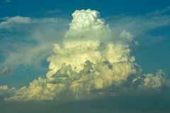 Beautiful awesome clouds in Nebraska stock photography