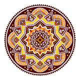 Beautiful Aztec tribal mandala ornament Royalty Free Stock Image