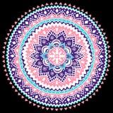 Beautiful Aztec tribal mandala ornament Stock Images