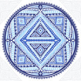 Beautiful Aztec tribal mandala ornament Stock Photography