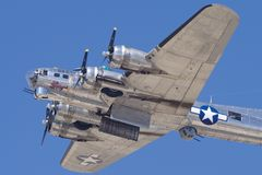 B-17 `Sentimental Journey` Flyby. The beautiful B-17 `Sentimental Journey` registration N9323Z shown during a flyby on March 25, 2018 Royalty Free Stock Images