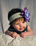 Beautiful Baby. Color photograph of baby on tummy Stock Images