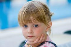 Beautiful baby. Beautiful little girl in nature Stock Photos