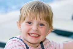 Beautiful baby. Beautiful little girl in nature Royalty Free Stock Photo