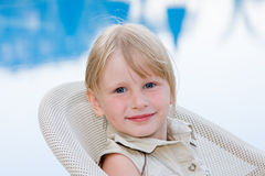Beautiful baby. Beautiful little girl in nature Stock Photography