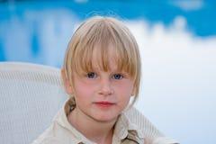 Beautiful baby. Beautiful little girl in nature Stock Photo