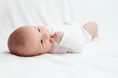 Baby on back Stock Photos