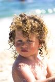 Beautiful baby on the beach Royalty Free Stock Photo