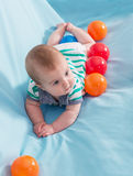 Beautiful baby boy Stock Photos