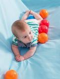 Beautiful baby boy stock photos