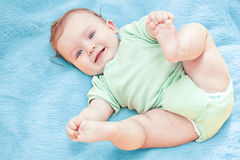 Beautiful Baby Boy After Bath Stock Photo