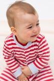 Beautiful baby boy crying Stock Image