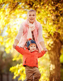 Beautiful baby boy and mother Stock Photography