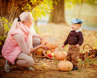 Beautiful baby boy and mother Royalty Free Stock Image