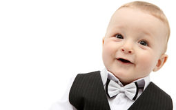 Beautiful baby boy in suit Royalty Free Stock Image