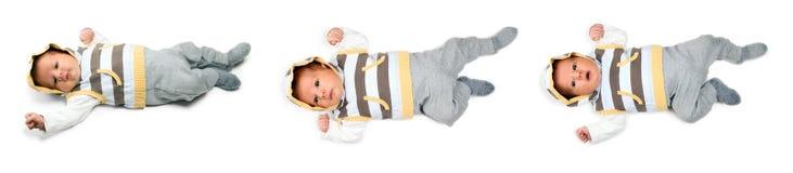 Beautiful baby boy is watching Stock Image