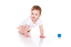 Beautiful baby building with cubes Royalty Free Stock Image