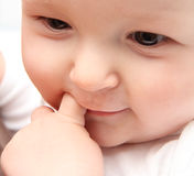 Beautiful baby close up Stock Photos