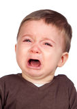 Beautiful baby crying Stock Image