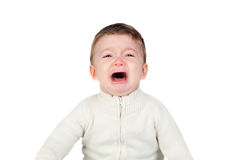 Beautiful baby crying Royalty Free Stock Photo