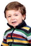 Beautiful baby crying Stock Image
