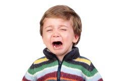 Beautiful baby crying Royalty Free Stock Photo