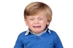 Beautiful baby crying Royalty Free Stock Photos
