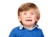 Beautiful baby crying Stock Photography