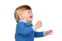 Beautiful baby crying Stock Photos