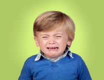 Beautiful baby crying Royalty Free Stock Photos