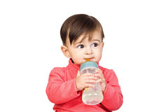 Beautiful baby with a Feeding bottle Royalty Free Stock Photo