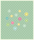 Beautiful baby floral greeting card vector Stock Photography