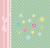 Beautiful baby floral greeting card vector Royalty Free Stock Photos