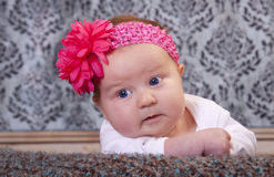 Beautiful baby with flower Royalty Free Stock Photos